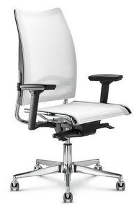 Flash, Chaise de bureau avec dossier haut avec filet ergonomique