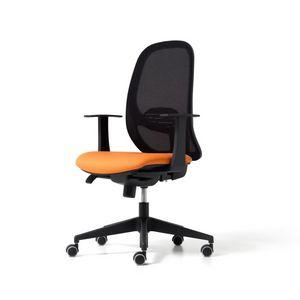 Hop, Chaise de bureau de travail, avec dossier en filet
