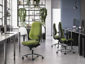 IBRA, Chaise de bureau avec accoudoirs réglables et dossier haut