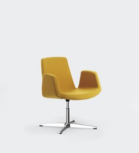 JOLLY, Chaise en métal, assise et dossier rembourrés, pour les salles de réunion ou de conférence