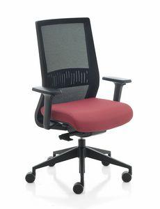 Karma, Chaise de bureau, avec mailles ou dossier rembourré