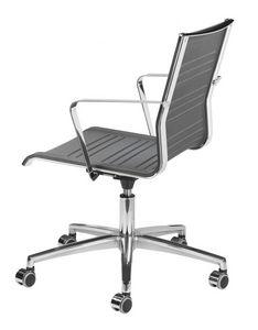 KEYPLUS 3150 + OPT, Chaise avec des roues, enveloppe respirante, pour le bureau