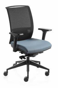 Konica, Chaise de tâche avec maille arrière, réglable en hauteur