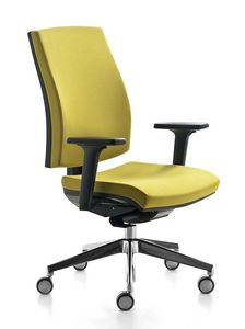 Kubika, Chaise de bureau pivotant, avec support lombaire réglable