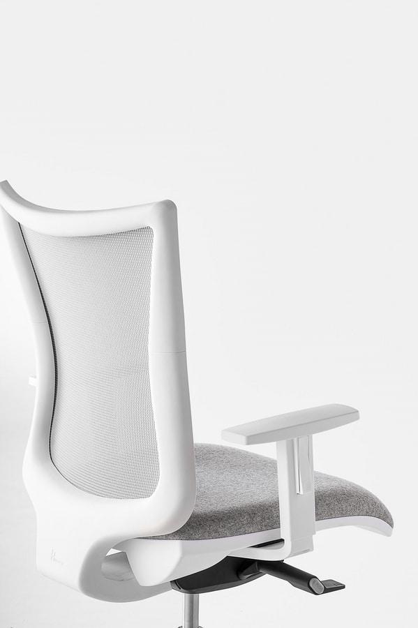 Kuper, Chaise de bureau pivotant, de différentes tailles et finitions