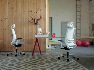 Logica White 01 PT, Siège de travail avec structure blanche
