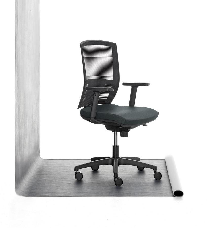 Mia 01, Chaise du groupe rembourré en polyuréthane, pour le bureau