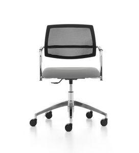 Samba AIR 03, Siège de travail avec roues, mesh, pour le bureau