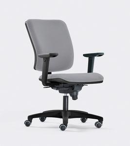 SMART, Siège de travail pour le bureau, design contemporain, siège et dossier rembourrés