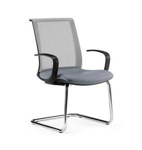 TECNA, Chaise visiteur de bureau, avec accoudoirs, résille