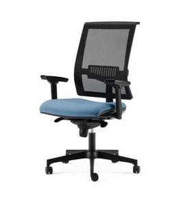 TECNA, Chaise avec dossier en résille, avec accoudoirs réglables