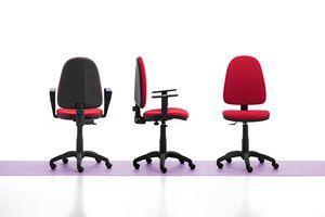 Viky 01, Chaise de bureau simple, avec accoudoirs et roues