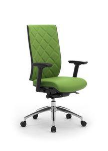 Wiki Tech, Chaise pivotante pour bureau, avec dossier de rhombus
