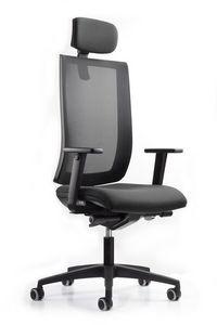 WIND 119, Chaise de bureau, appui-tête réglable en hauteur