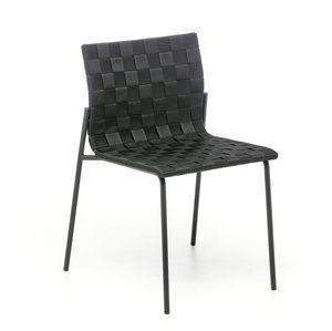 Zebra, Chaise en acier avec du polypropylène entrelacées, également pour l'extérieur