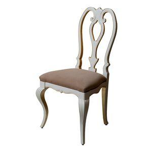 Tiffany LU.0986, Chaise rembourrée avec dossier ajouré