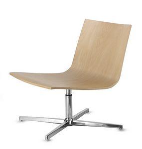 EXEN 242, Chaise pivotante avec assise en bois