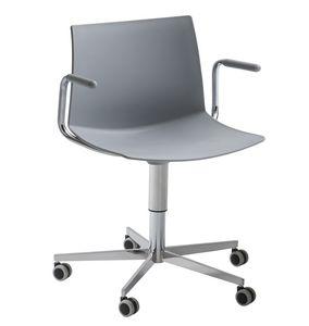 Kanvas 2 5R BR, Chaise pivotante avec accoudoirs
