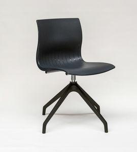 WEBBY 3472, Chaise pivotante avec coque en nylon