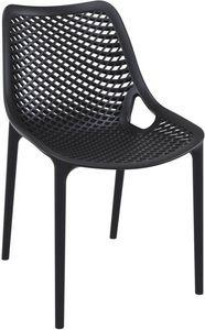 Alice - S, Chaise avec structure en polypropylène adapté pour l'extérieur, chaise empilable en plastique pour le jardin