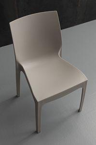 Art. 045 Falena Velvet, Chaise empilable entièrement en polypropylène, pour barres