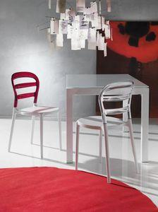 Art. 07 Deja vù, Chaise en plastique, pour la cuisine et l'extérieur