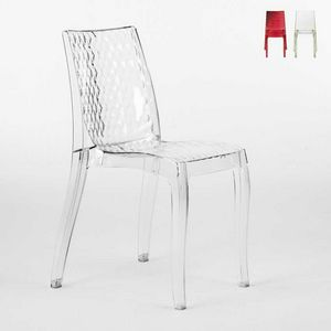 Chaise design transparent interne Hypnotic - S6319, Chaise en polycarbonate transparent, pour extérieur