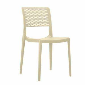 Chaises de bar en polypropyl�ne pour cuisine et jardin empilables CROSS - SC702PP, Chaise empilable pour jardin