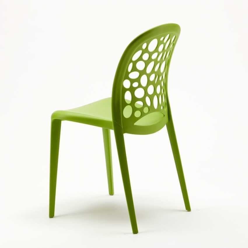 Chaise colorée en polypropylène pour jardin | IDFdesign