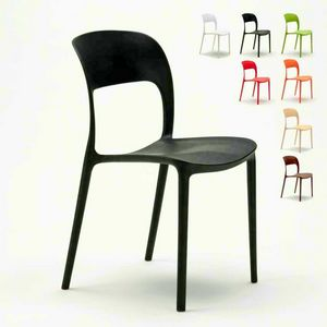 Chaises de cuisine maison bar restaurant en polypropyl�ne color� Design RESTAURANT - SR633PP, Chaise de cuisine en polypropyl�ne color�