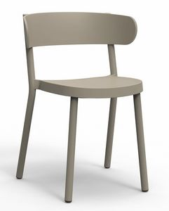 Clem, Chaise en plastique pour bars et hôtels