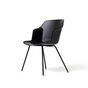 Clop 4 jambes imb, Chaise sur 4 pieds avec assise rembourrée