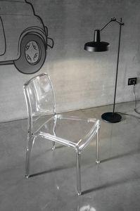 FUTURA SE800, Chaise en plastique transparent idéal pour les bars