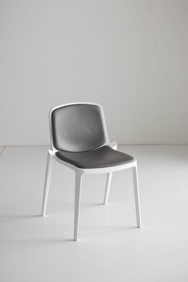 Isidora, Chaise empilable polymère, ajouré
