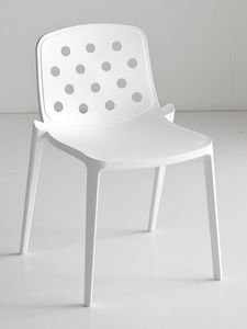 Isidora, Chaise empilable polym�re, ajour�