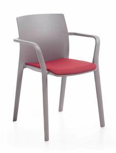 Klia imb, Chaise empilable avec rembourrage fixe ou amovible