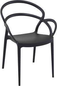 Marion, Chaise design en plastique, pour bars et restaurants