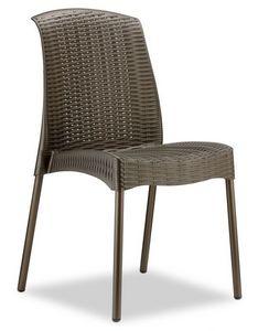 Olimpia Chair, Chaise empilable en aluminium et technopolymère