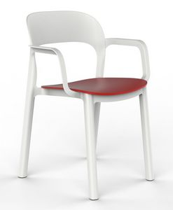 Opal - P, Chaise avec accoudoirs, empilable, pour l'extérieur