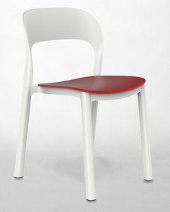 Opal - S, Chaise empilable, pour les bars et les h�tels, r�sistant aux UV