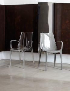 PL 2654, Chaise en polycarbonate avec accoudoirs