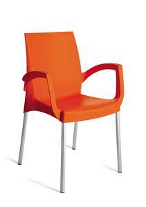 PL 3640, Chaise empilable en polypropylène pour usage extérieur