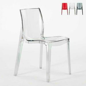 Maison chaise de bar transparent FEMME FATALE - S6317TR, Chaise ignifuge, en plastique de qualit� sup�rieure, empilable