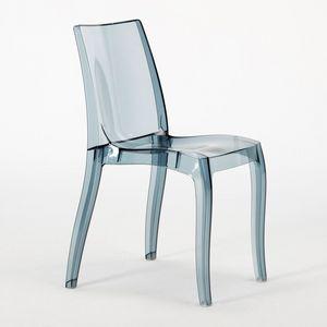 Chaise en polycarbonate transparent Cristal Light � S6326TR, Chaise moderne, en polycarbonate, pour le contrat