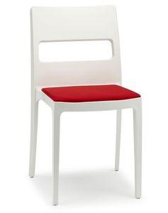 Sai/CU, Chaise en polypropène avec coussin