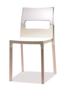 SE 2015, Chaise en hêtre et technopolymère, empilable et confortable