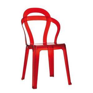 SE 2330, Chaise enti�rement en plastique transparent, empilable, pour les caf�s et les salons de cr�me glac�e