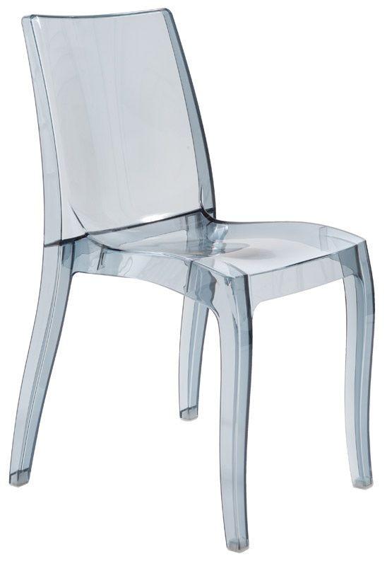 SE 6326, Chaise légère en polypropylène transparent, empilable