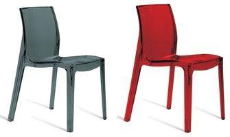 SE 6317, Chaise en plastique pour l'intérieur et l'extérieur, pour le restaurant