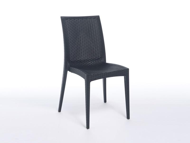 SE 6380, Chaise en plastique léger avec de faux entrecroisement, pour les bars